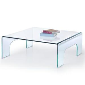 Изцяло стъклена квадратна холна маса