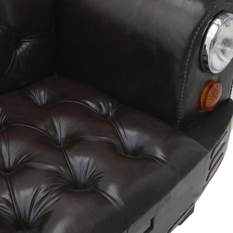 Канапе от еко кожа като автомобил - седалка