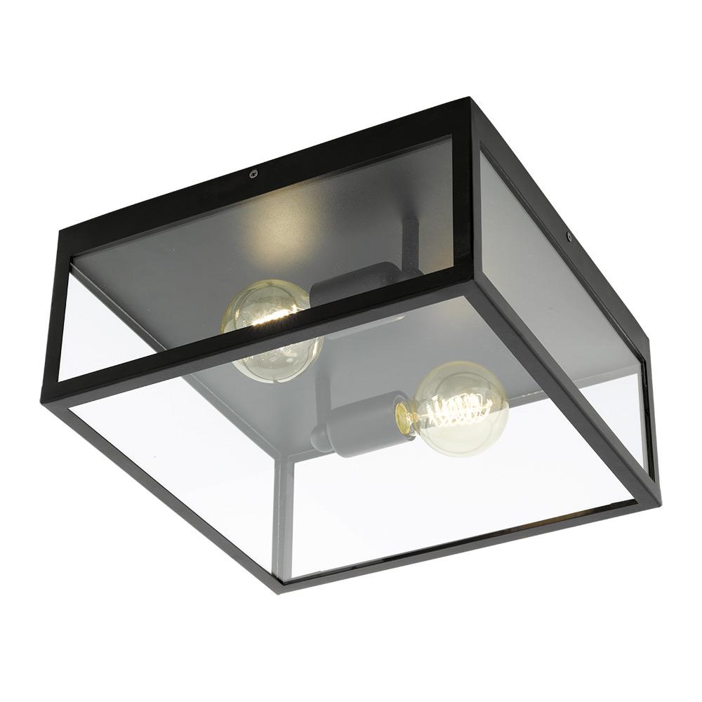 Квадратен плафон като стъклена кутия серия Charterhouse