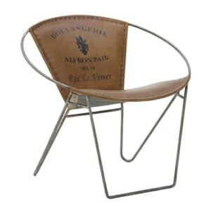 Кожен стол в индустриален стил