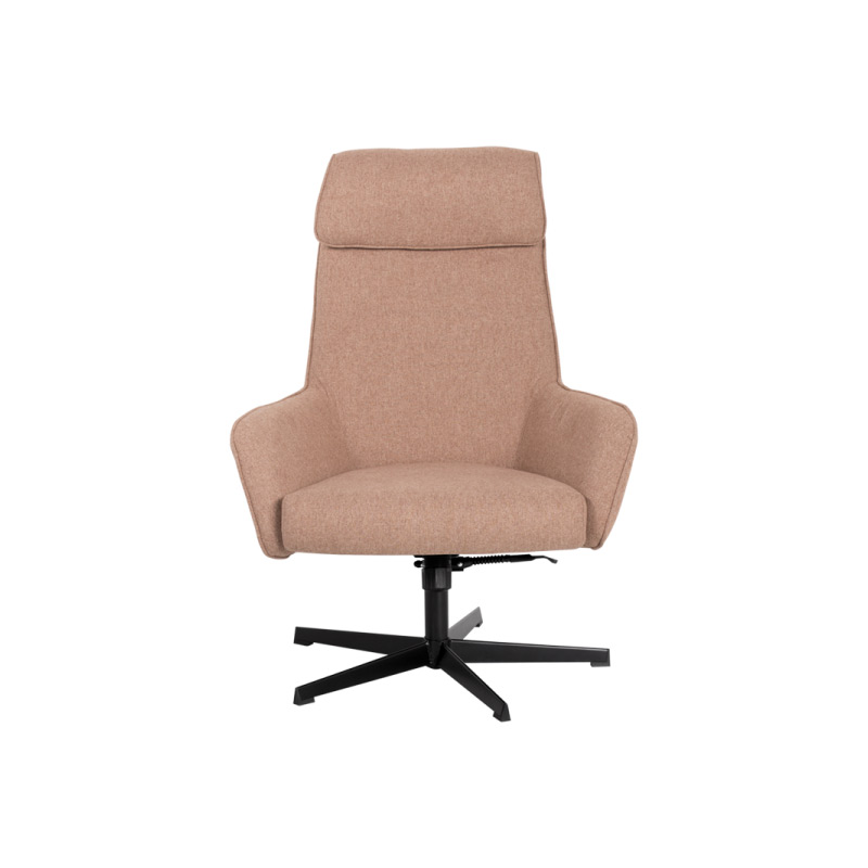Кресло с люлееща функция и табуретка-цвят златно бежов, снимка отпред