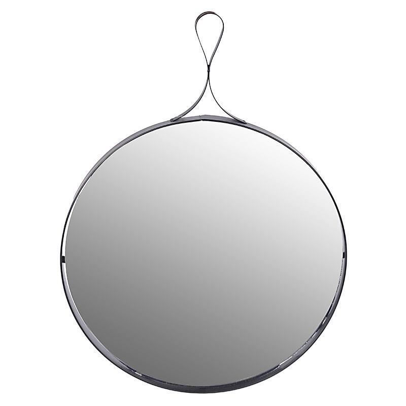 Кръгло стенно огледало с метален обков
