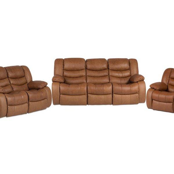 Фотьойл, двоен диван и троен диван от естествена кожа
