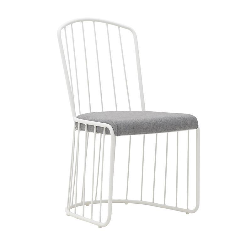 Метален стол с текстилна седалка (2 цвята)