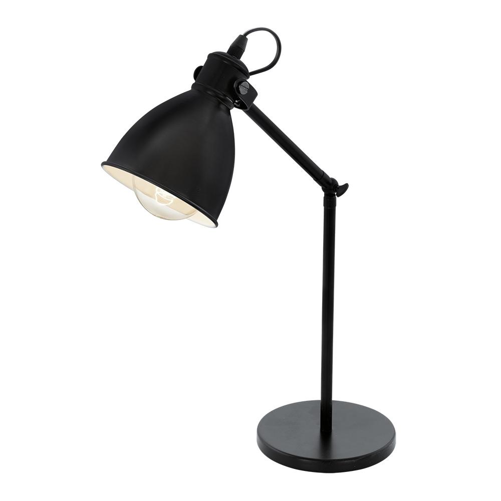 Металнa чернa настолна лампа серия Priddy