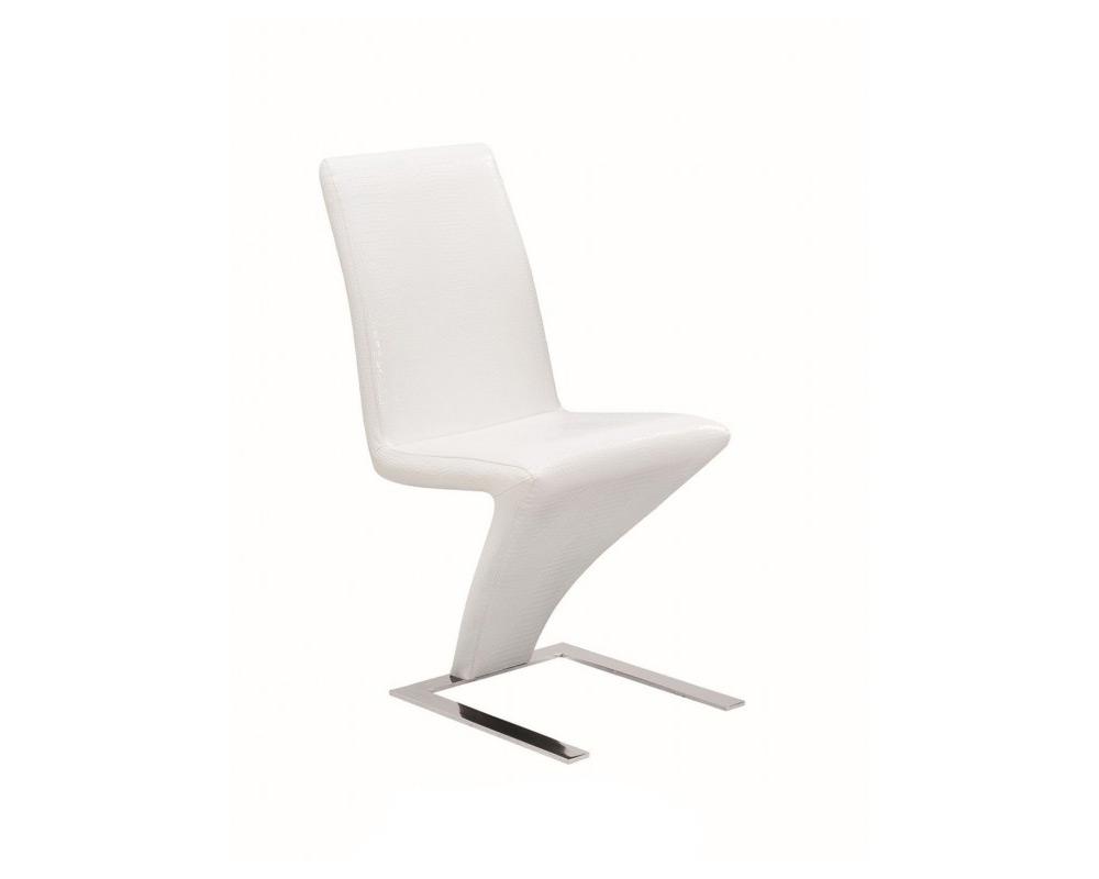 Минималистичен бял стол от еко кожа