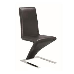 Минималистичен черен стол от еко кожа