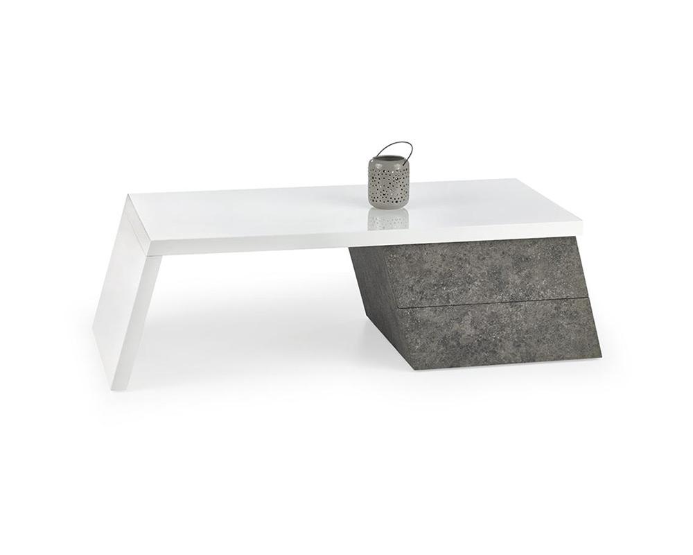 Минималистична холна маса във формата на трапец