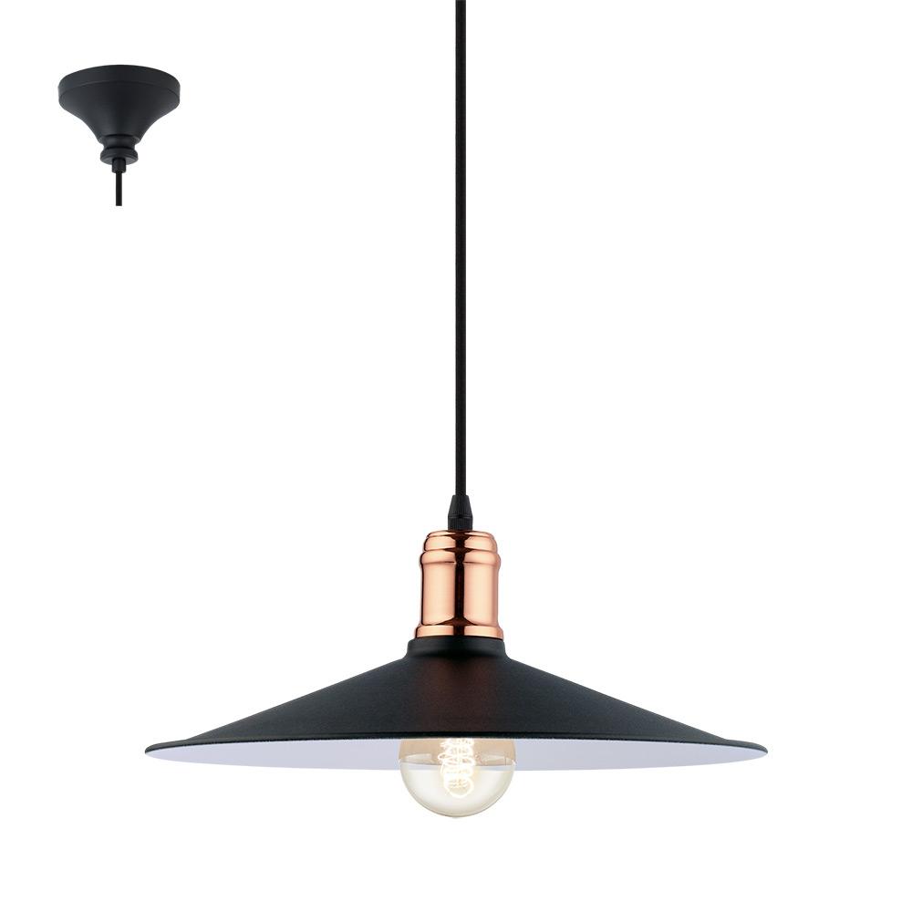 Модерен пендел за трапезария серия Bridport, цвят черно и мед