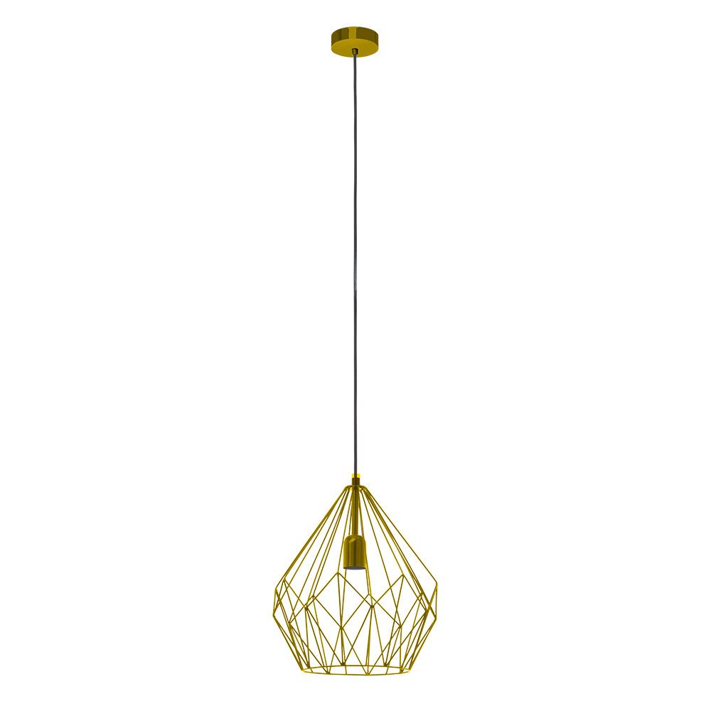 Модерен пендел с геометричен мотив серия Carlton - цвят златно