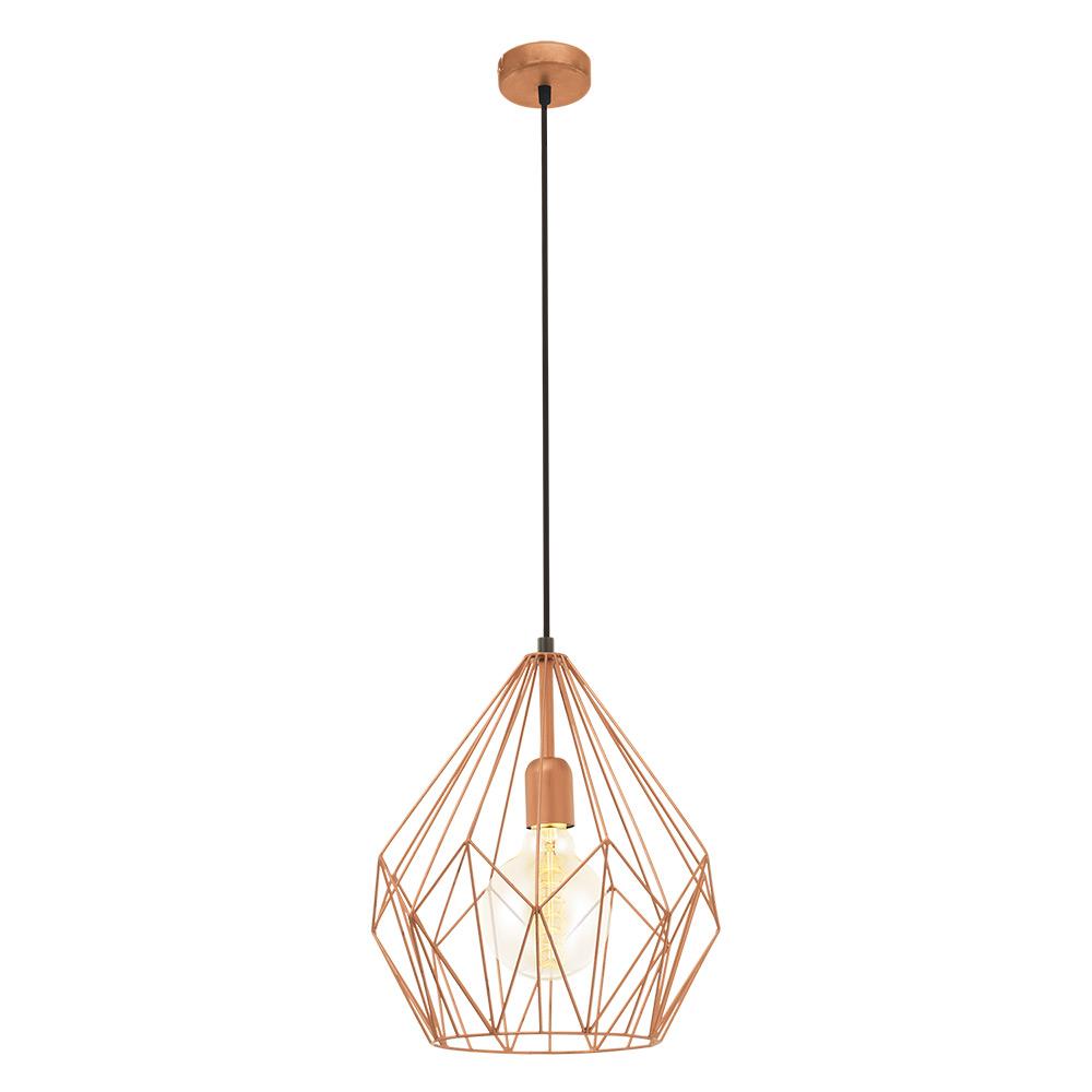 Модерен пендел с геометричен мотив серия Carlton - цвят мед