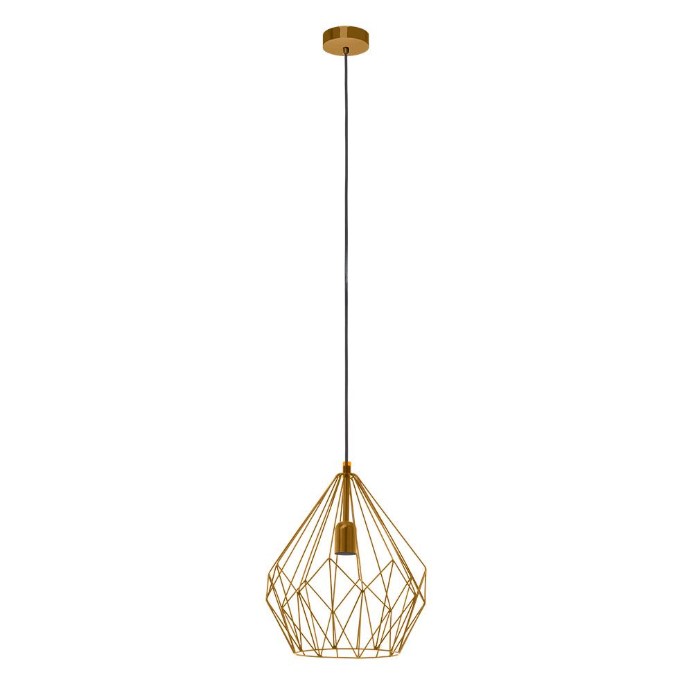 Модерен пендел с геометричен мотив серия Carlton - цвят тъмно злато