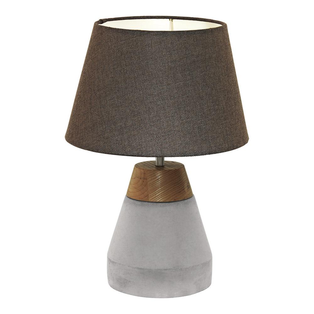 Настолна лампа от дърво и бетон серия Tarega