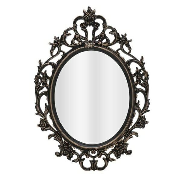 Огледало с орнаменти в черно и антично злато