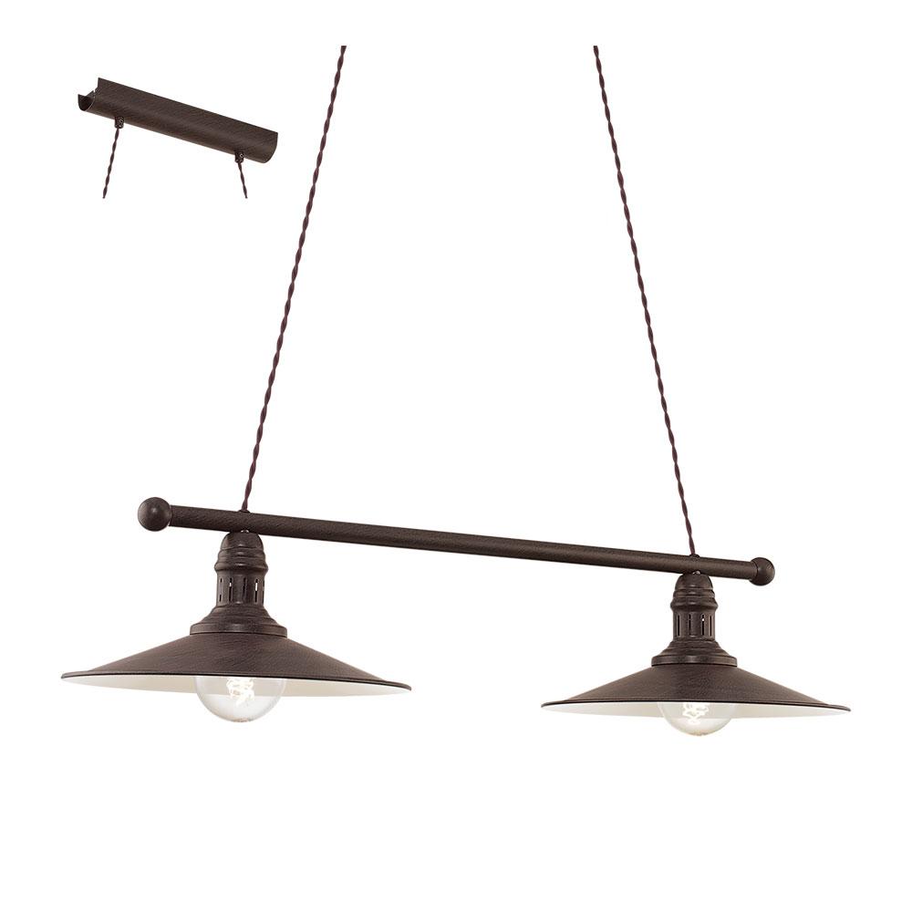 Пендел в индустриален стил с 2 крушки серия Stockbury