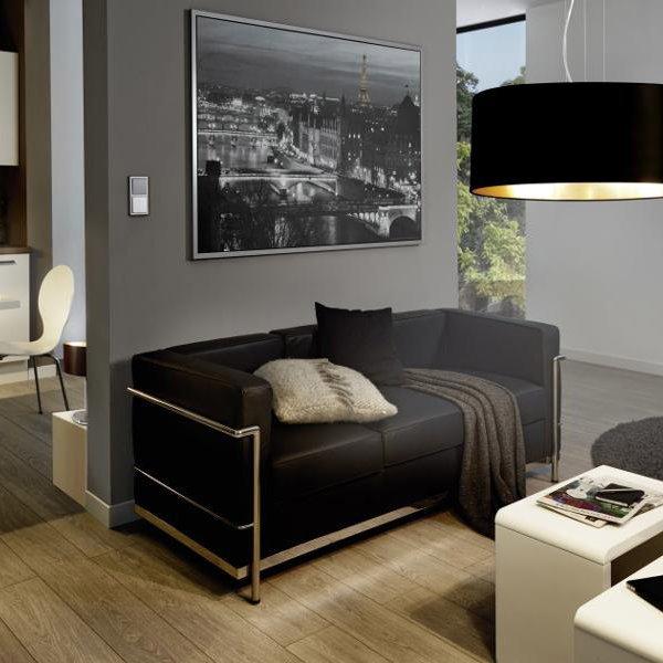 Дневна с пендел от текстил в цвят черно и златно серия Maserlo