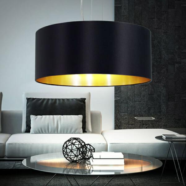 Хол с пендел от текстил в цвят черно и златно серия Maserlo