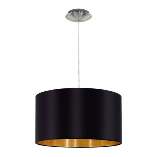 Пендел от текстил в цвят черно и златно серия Maserlo