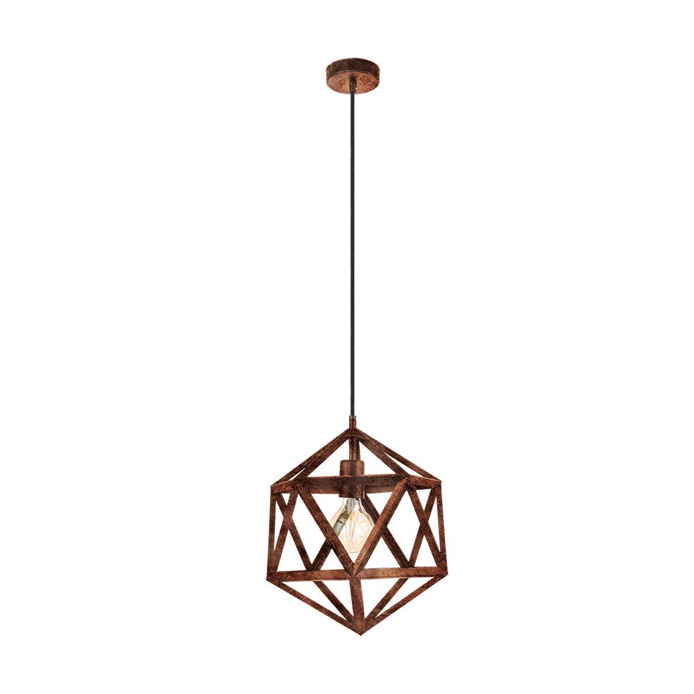 Пендел с геометрична форма серия Embleton - цвят мед-антик