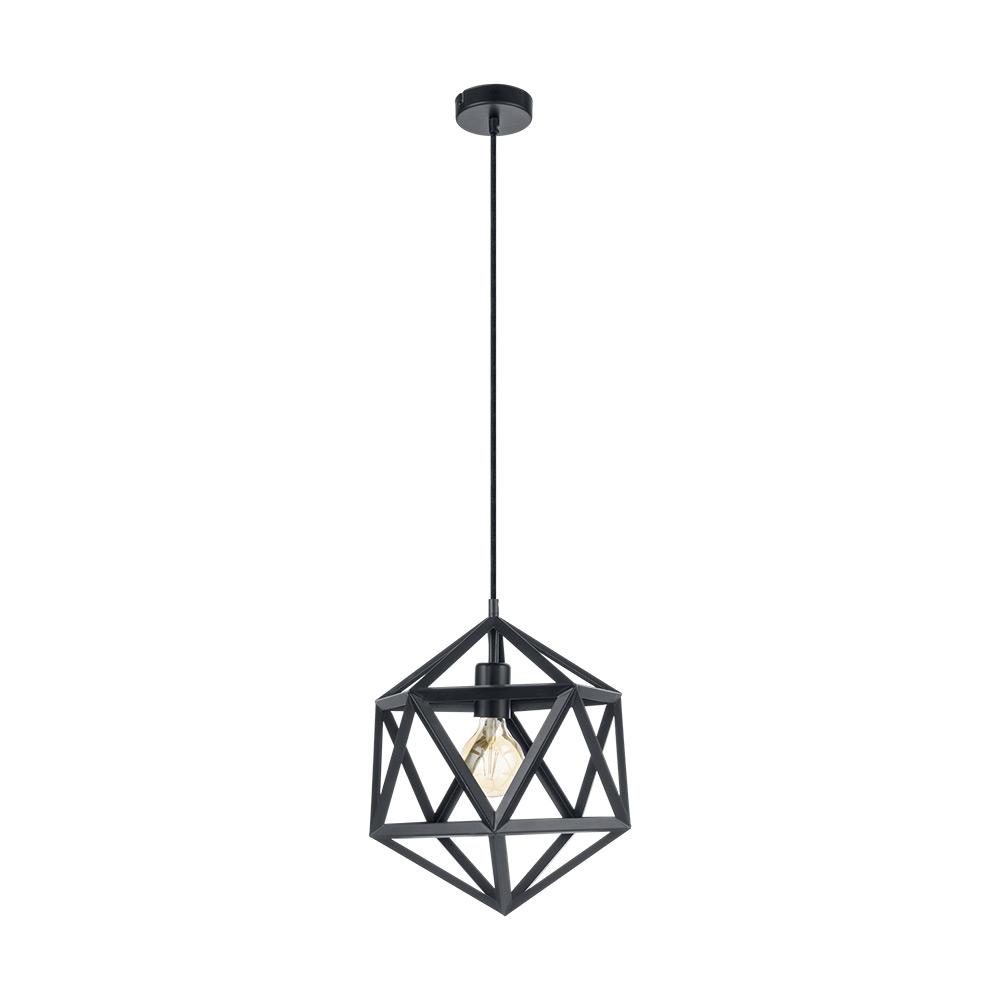 Черен пендел с геометрична форма серия Embleton