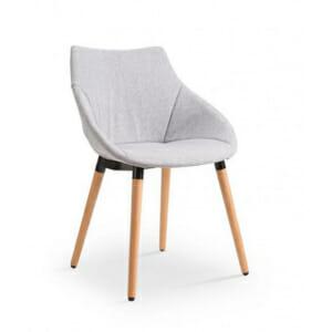 Сив трапезен стол в модерен стил