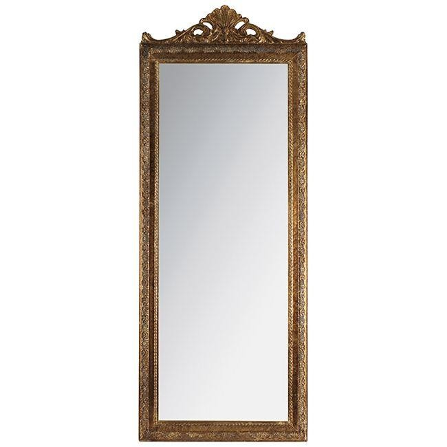 Стенно огледало - голямо, антично злато