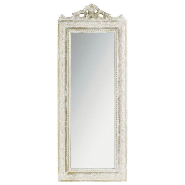 Стенно огледало с красива рамка (2 размера, 4 цвята)