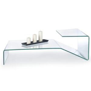Стъклена холна маса с модерен дизайн