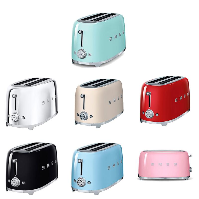 Тостер с ретро дизайн SMEG (7 цвята)