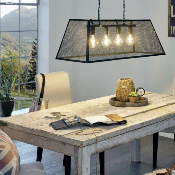 Трапезария с осветителни тела в индустриален стил серия Amesbury