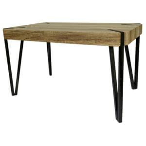 Трапезна маса с метални триъгълни крака