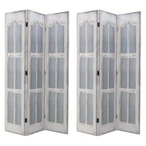 Трикрилен интериорен параван като прозорец