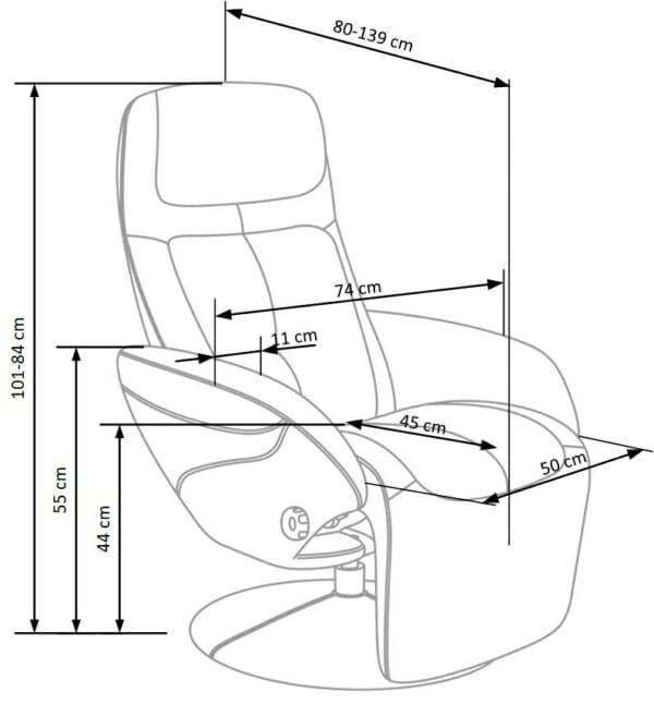 Удобен релакс стол - схема