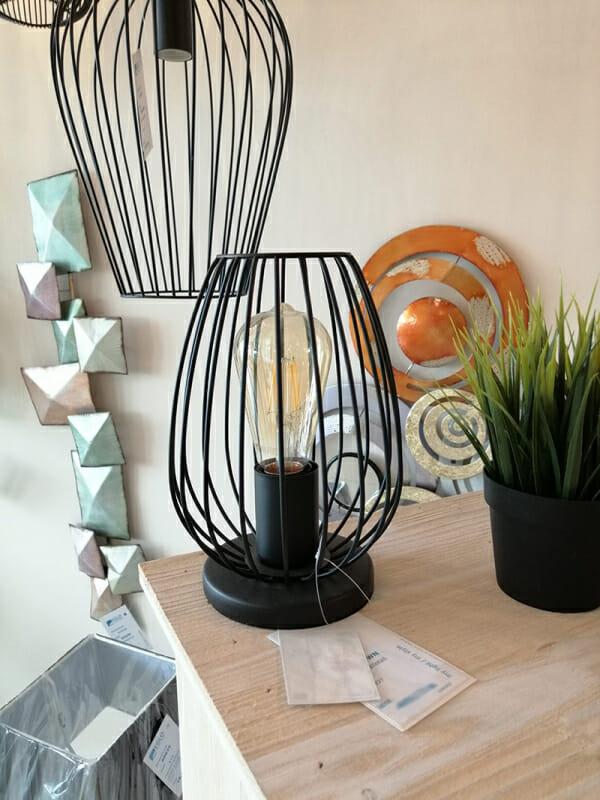 Винтидж настолна лампа тип лале Eglo Newtown