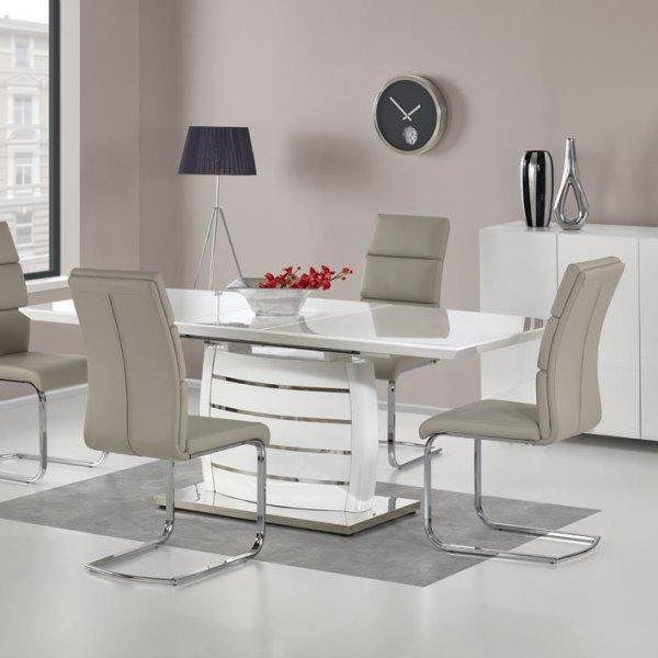 Бяла правоъгълна маса Лукс с 4 стола