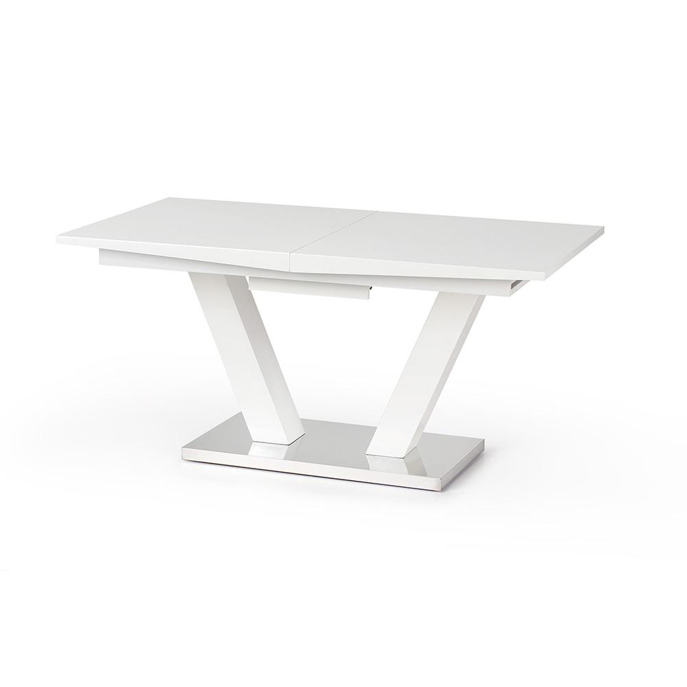 Бяла разтегателна трапезна маса Вижън