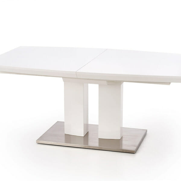 Бяла трапезна маса Лина