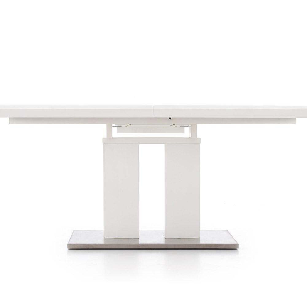 Бяла трапезна маса Лина - с прибран механизъм