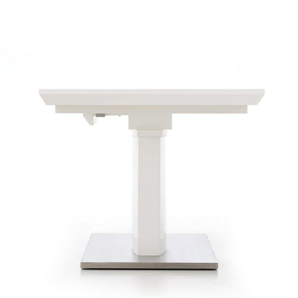 Бяла трапезна маса Лина - странично