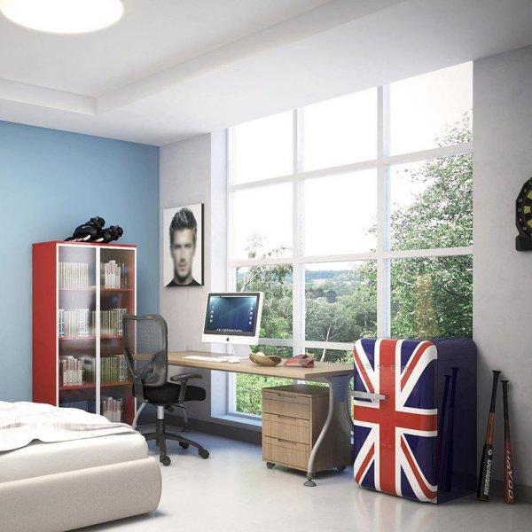 Декоративен мини хладилник с английското знаме на вратата SMEG-интериор