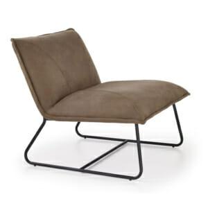 Декоративен стол за релаксиране във формата на възглавница, от еко кожа, с метална основа Изключително удобна мебел, подходяща за използване като декоративен акцент в различни помещения