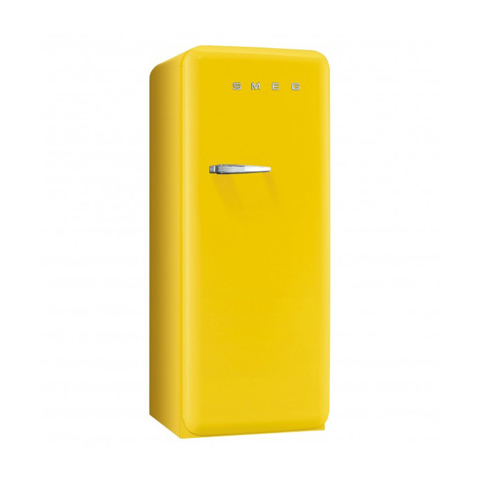 Жълт хладилник Smeg в ретро стил от 50те