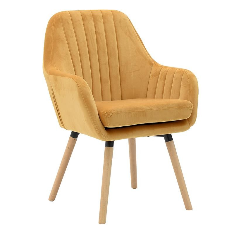 Компактно кадифено кресло
