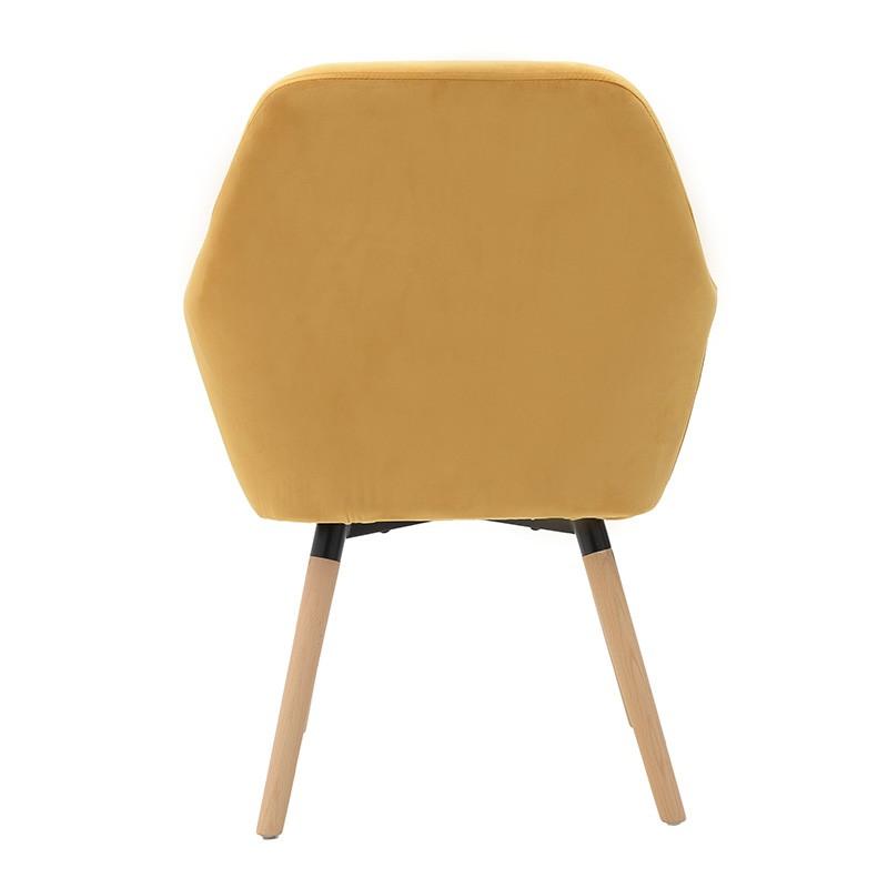 Компактно кадифено кресло - отзад