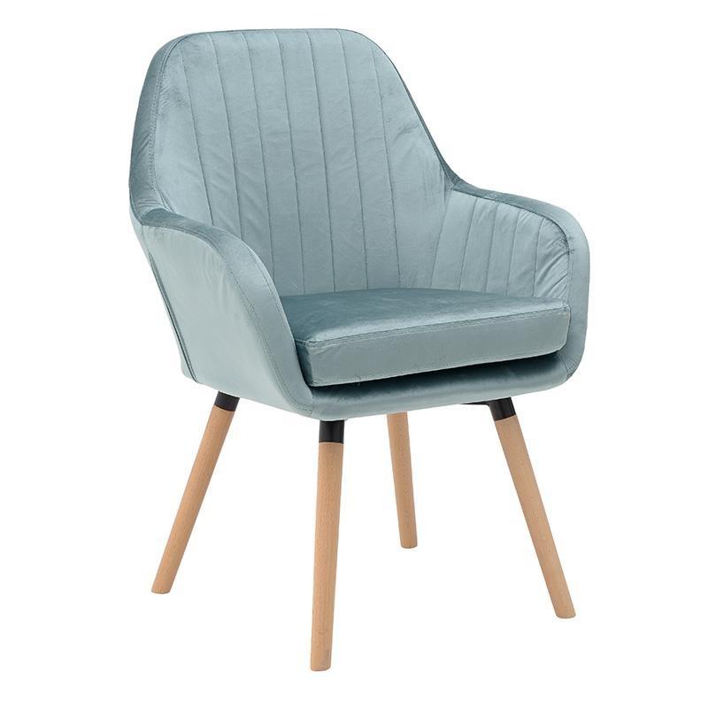 Компактно кадифено кресло в 2 цвята
