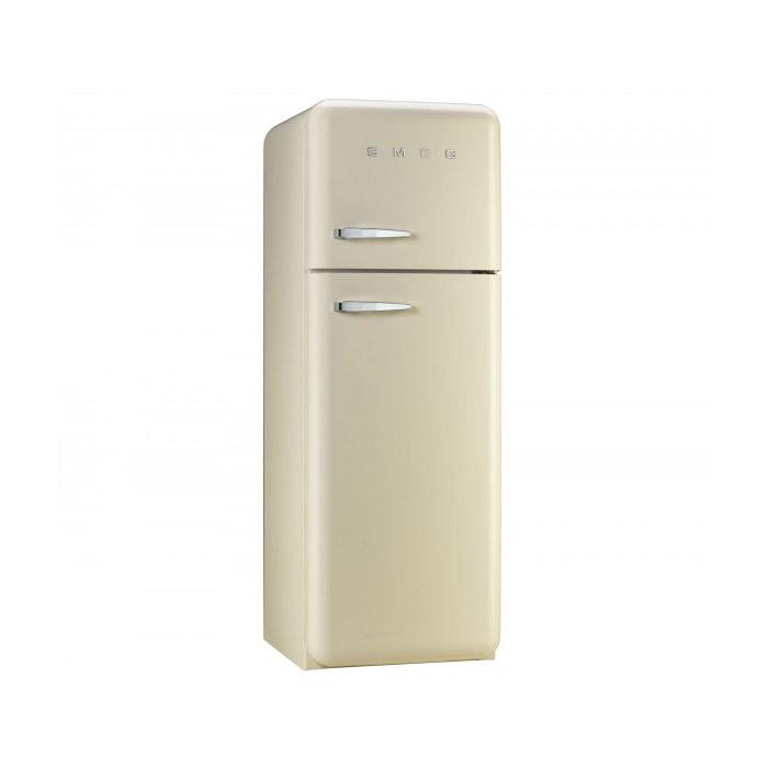 Хладилник с горна камера SMEG в кремав цвят