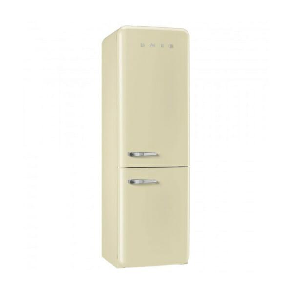Кремав хладилник с фризер SMEG