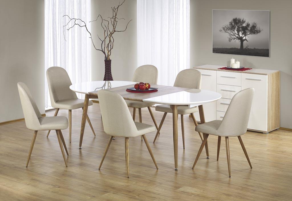 Трапезна маса Едисън -разтегната със столове