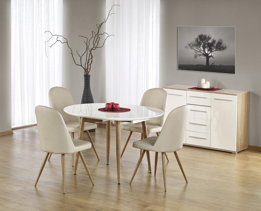 Трапезна маса Едисън -прибрана със столове