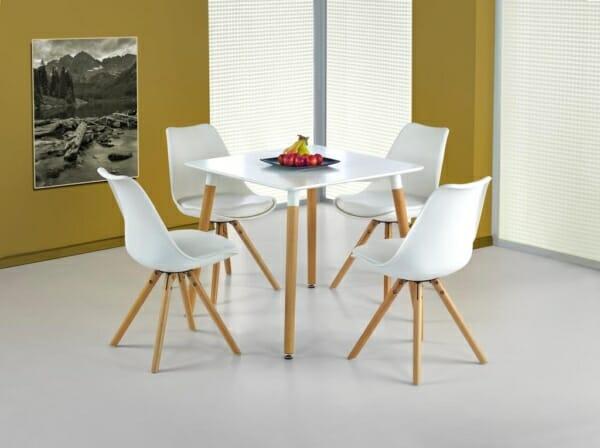 Малка бяла маса Мики - със столове